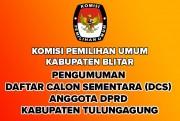 Pengumuman DCS Anggota DPRD Kabupaten Blitar Pileg 2019
