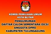 Pengumuman DCS Anggota DPRD Kota Blitar Pileg 2019