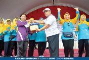 Cabdindik Jatim Wilayah Tulungagung Gelar Senam dan Jalan Sehat