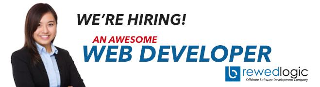 Web Developer from BrewedLogic Inc.
