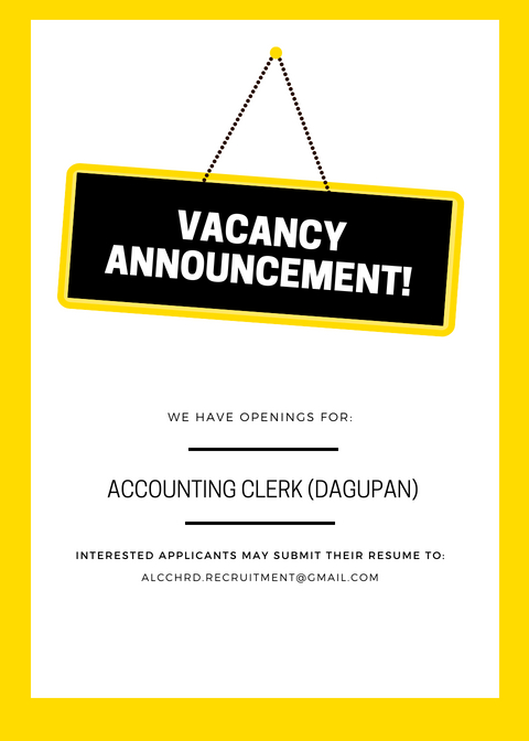 Accounting Clerk from ALC Group of Companies