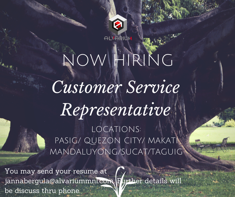 Call Center Agent (csr) from Alvarium MNL