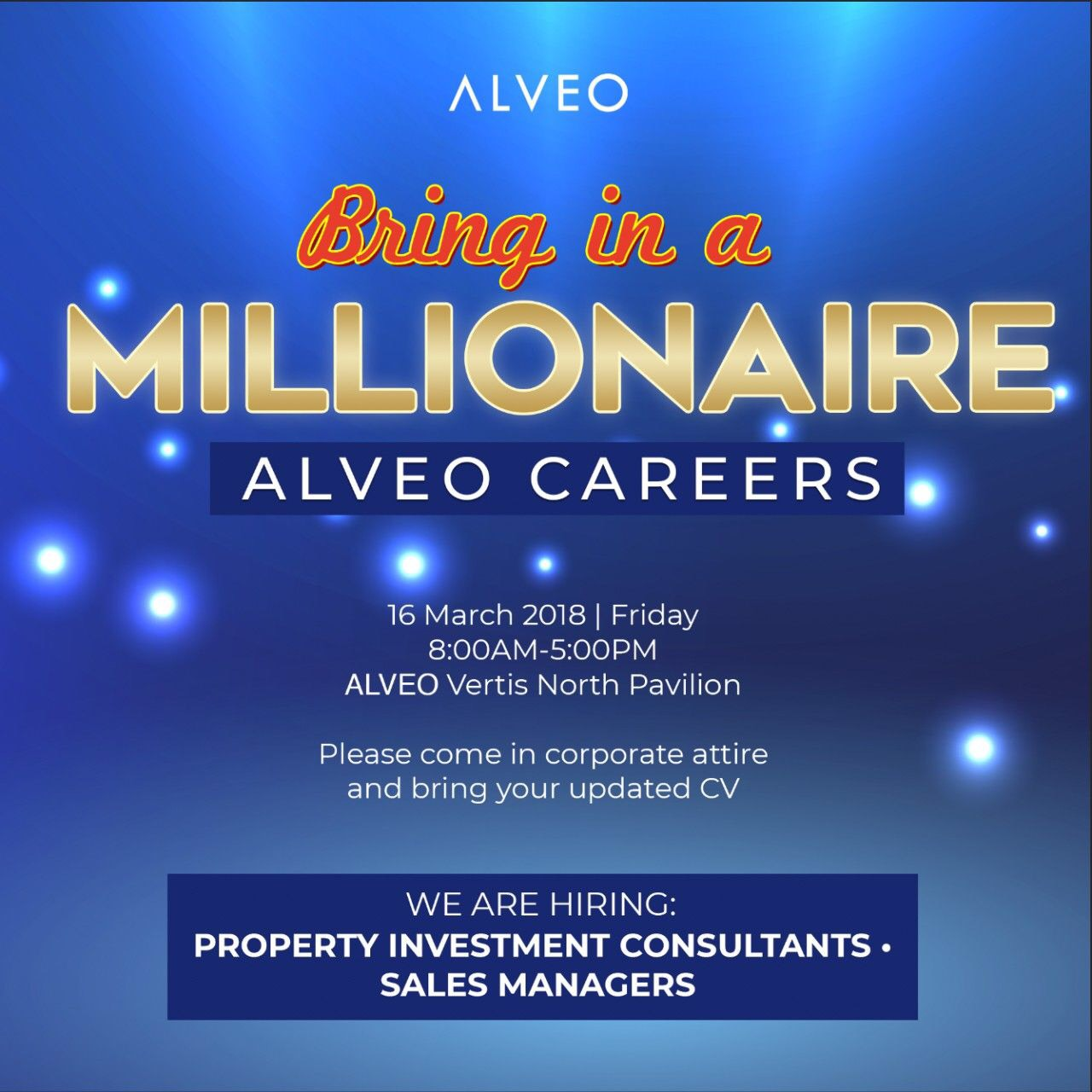 Property Investment Consultant   Property Specialist   Real Estate Sales from Alveo Land Corp   Ayala Land Inc.