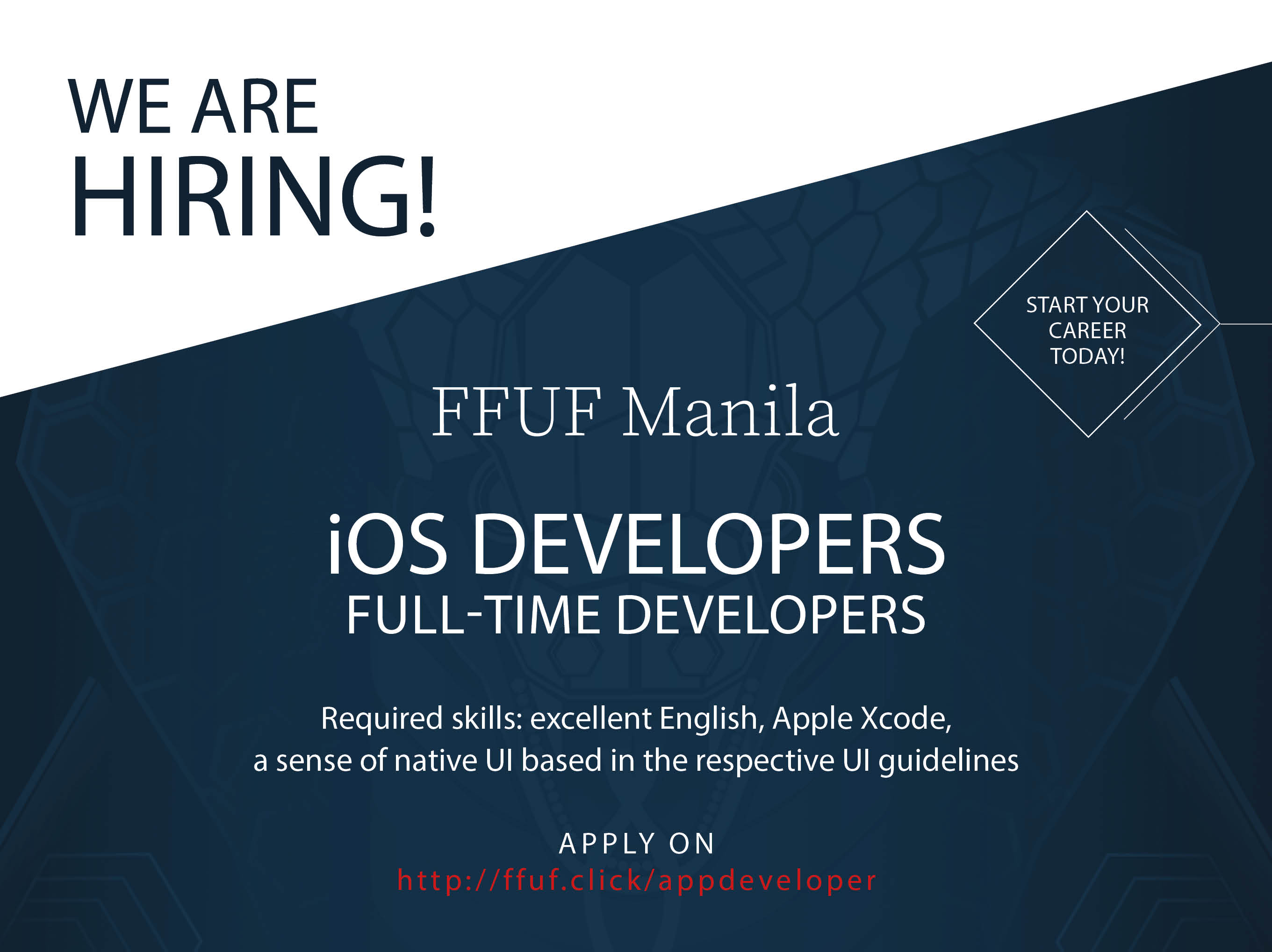Ios Developer from FFUF Manila Inc.