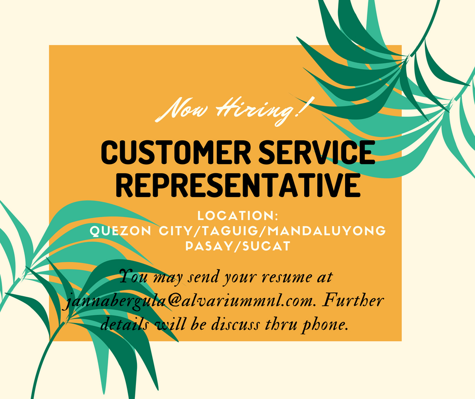 Customer Service Representative from Alvarium MNL