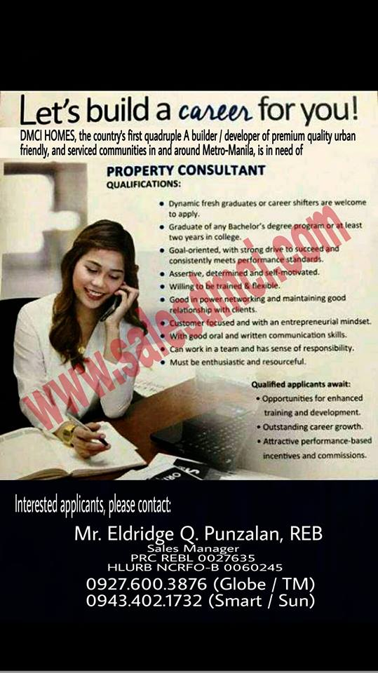 Property Consultant from DMCI Homes