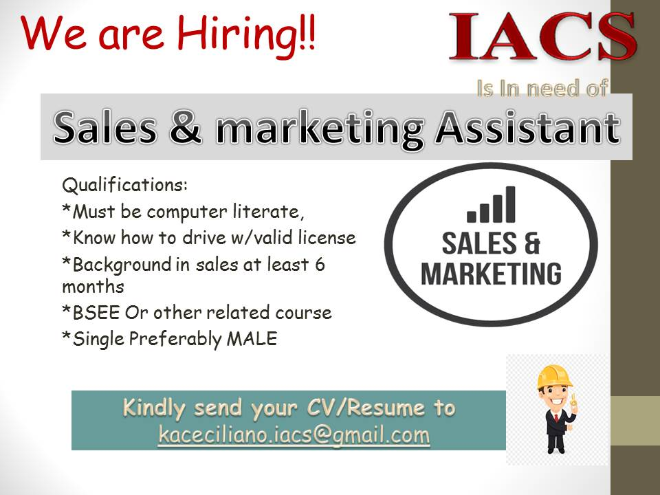 Sales And Marketing Assistant from Integrated Automation & Control Solutions, Inc.