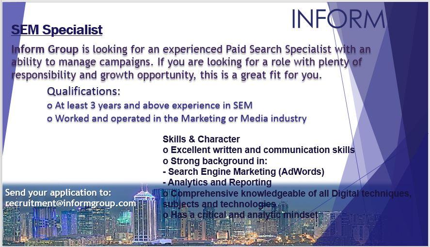 SEM / Google AdWords PPC Expert $$$ from Inform Group Manila