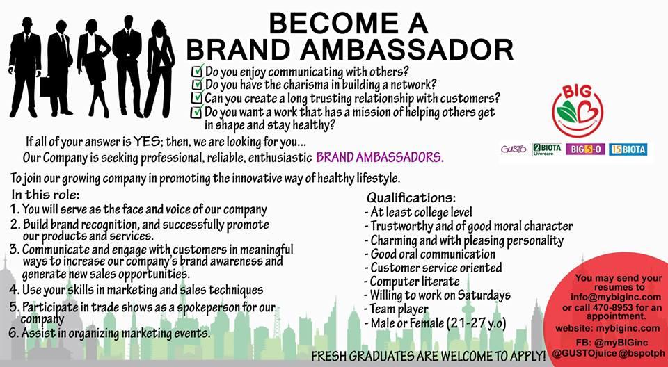 Brand Ambassador from Business Innovations Gateway Inc.