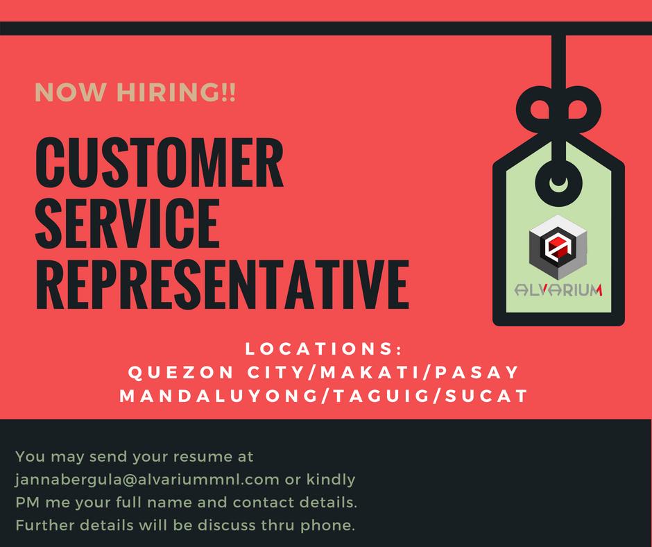 Call Center Agent from Alvarium MNL