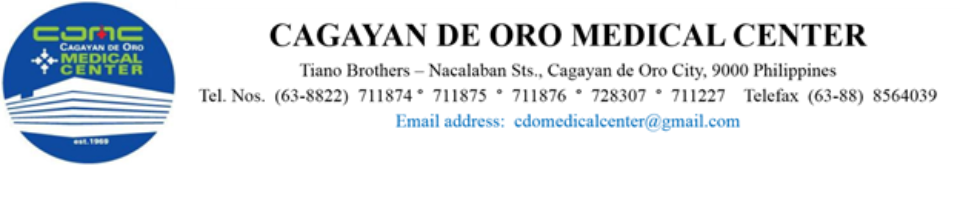Medical Technologist From CAGAYAN DE ORO MEDICAL CENTER INC