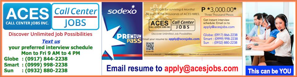 Customer Service Associate from ACES Call Center Jobs Inc.