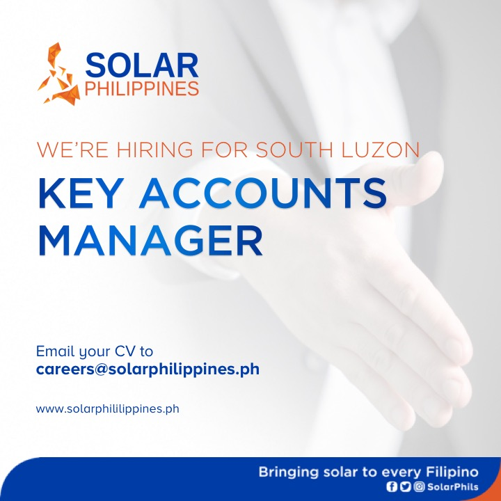 Key Accounts Manager from Solar Philippines