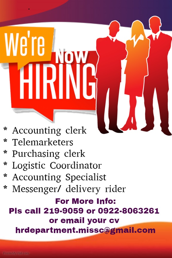 Marsian industrial Sales and Supply Corp from Manila is Looking for ...