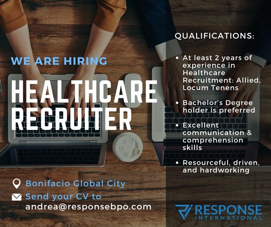 us healthcare recruiter from response international bpo
