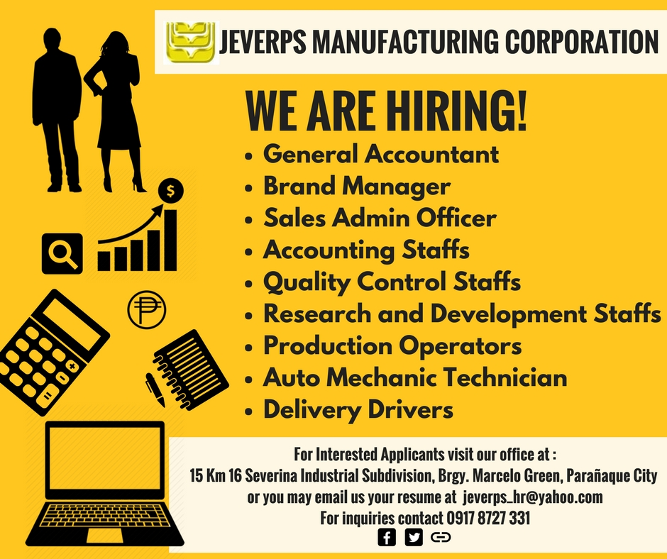 Office Staffs from Jeverps Manufacturing Corporation