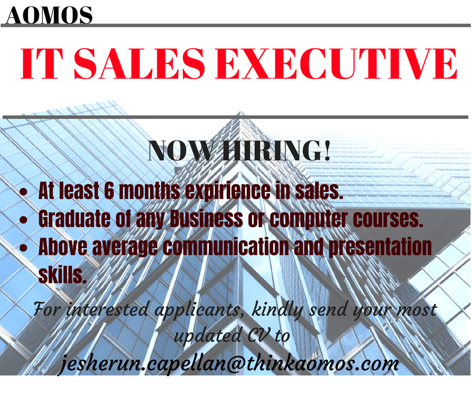 Information Technology Sales Executive from AOMOS