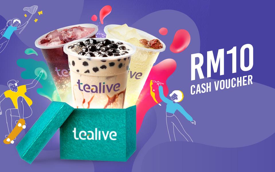 Win a RM10 Tealive Cash Voucher!