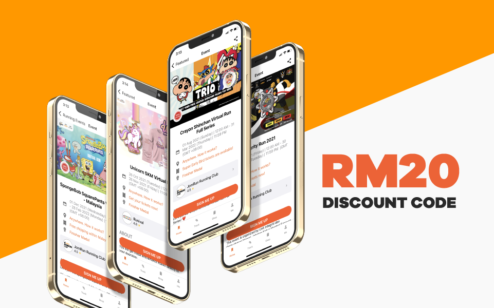 Win a RM20 Discount Code for any of JomRun Events!