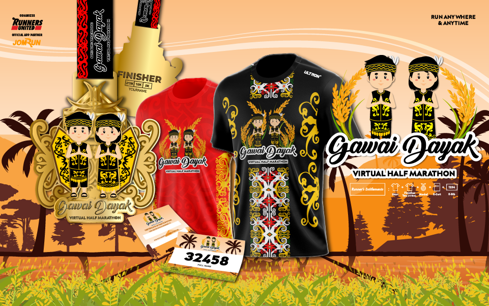Gawai Dayak Virtual Half Marathon
