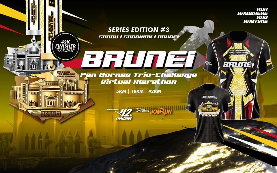 Brunei Virtual Marathon - Pan Borneo Trio-Challenge