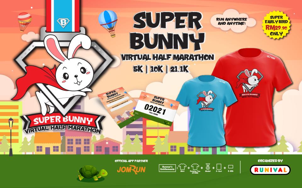 Super Bunny Virtual Half Marathon