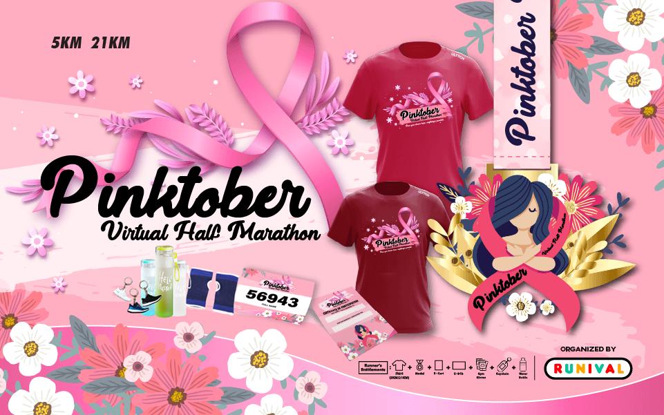 Pinktober Virtual Half Marathon - Malaysia