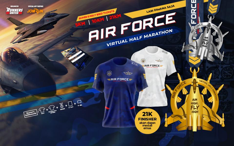 Air Force Virtual Half Marathon - Indonesia