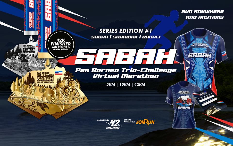 Sabah Virtual Marathon - Pan Borneo Trio-Challenge