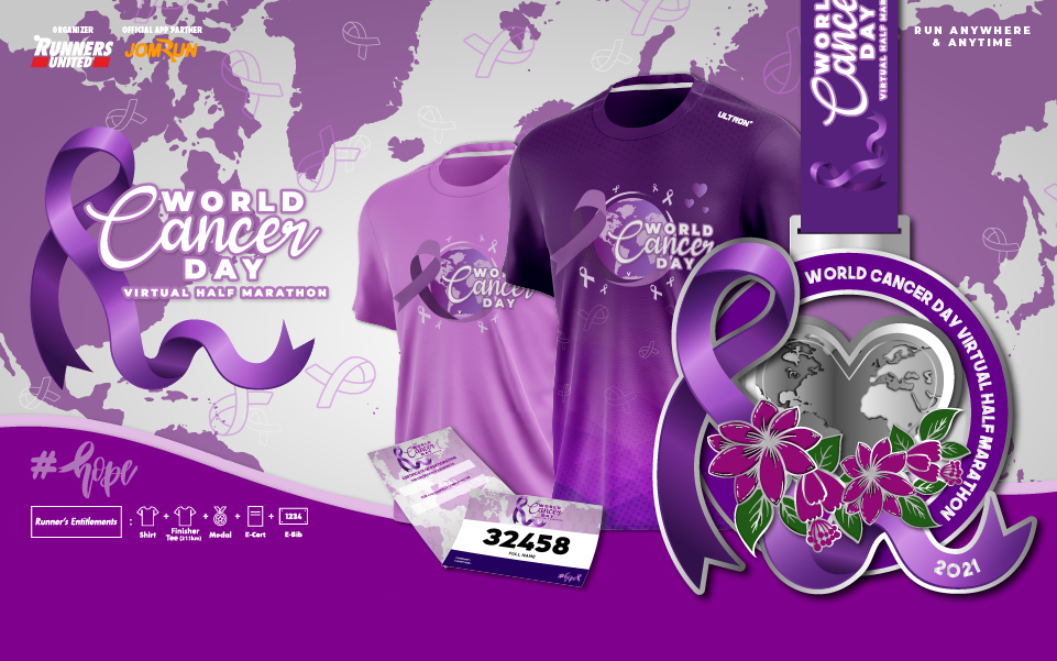 World Cancer Day Virtual Half Marathon - SG/BR