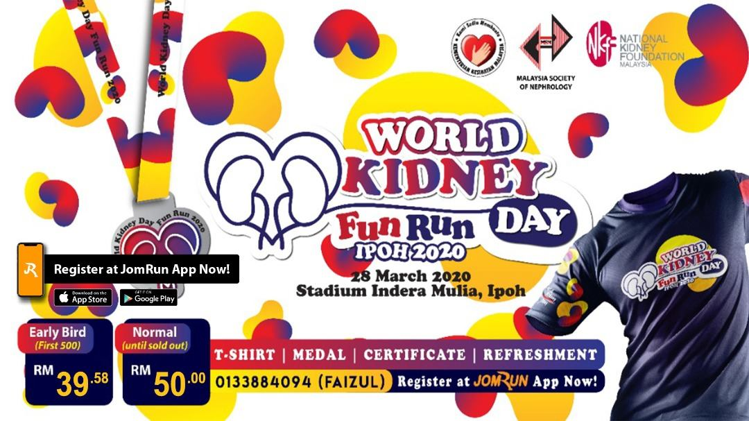 World Kidney 5KM Fun Run Day Ipoh 2020