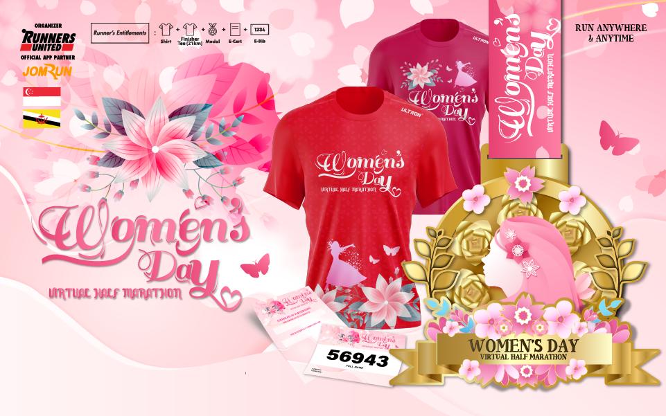 Women's Day Virtual Half Marathon - SG/BR