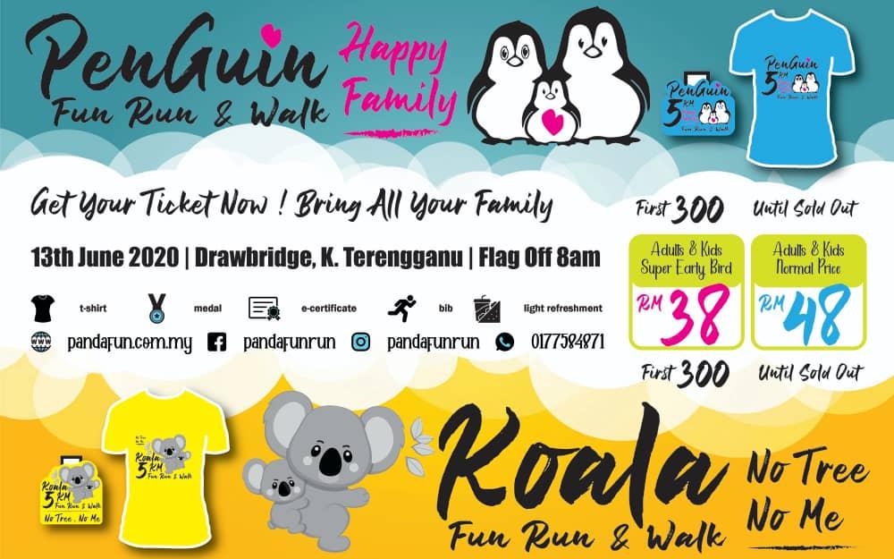 Kuala Terengganu PENGUIN vs KOALA Fun Run & Walk