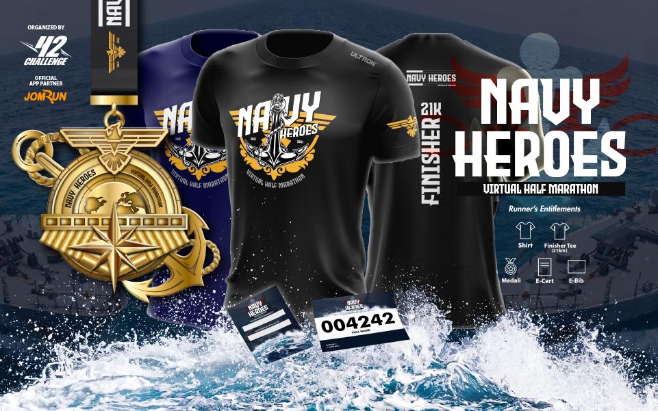 Navy Heroes Virtual Half Marathon - Indonesia