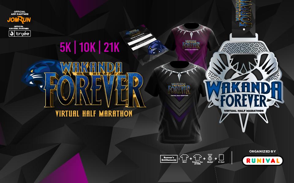 Wakanda Forever Virtual Half Marathon - Indonesia