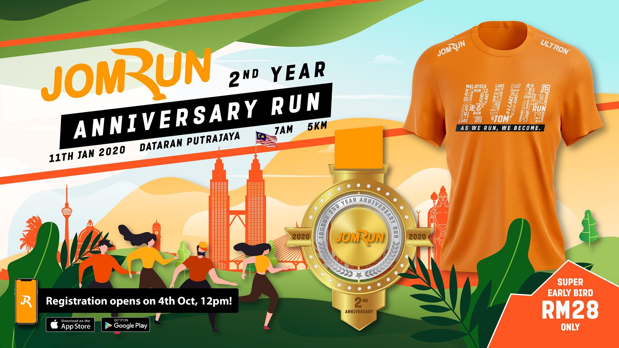 JomRun 2nd Year Anniversary Run