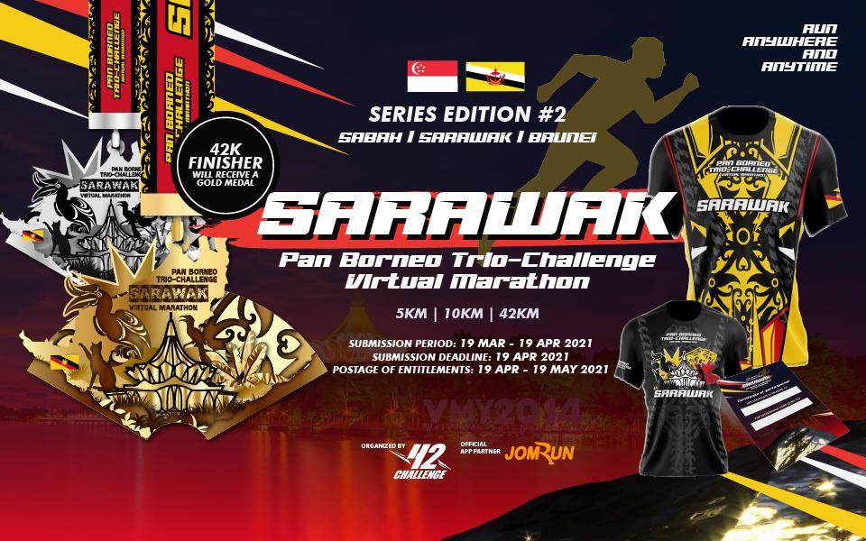 Sarawak Virtual Marathon - Pan Borneo Trio-Challenge - SG/BR