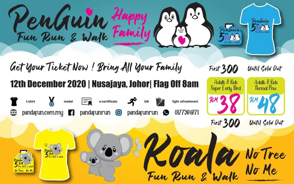 Nusajaya PENGUIN vs KOALA Fun Run & Walk