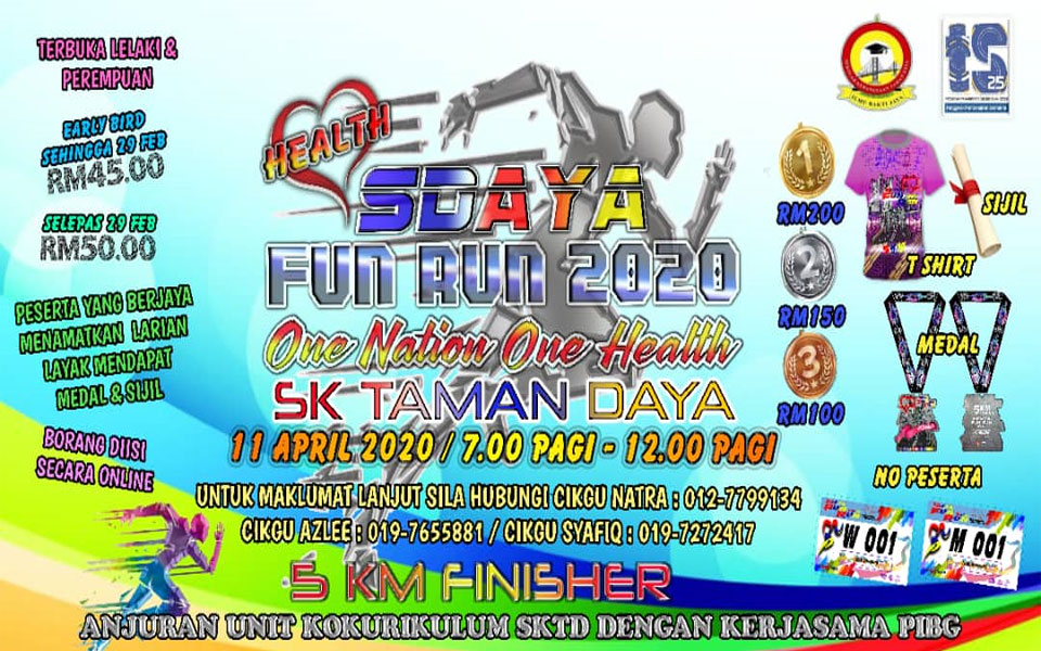 "SDAYA Fun Run 2020 ""One Nation One Health"""