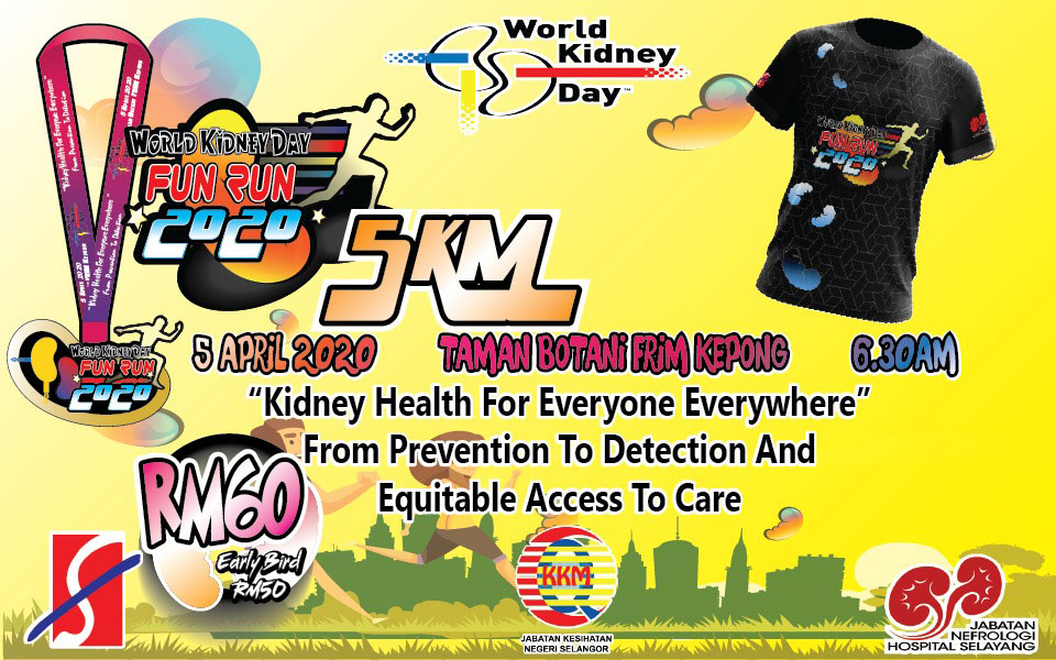 """World Kidney Day 2020 """"Fun Run"""" Kidney Health For Everyone Everywhere - From Prevention To Detection And Equitable Access To Care"""
