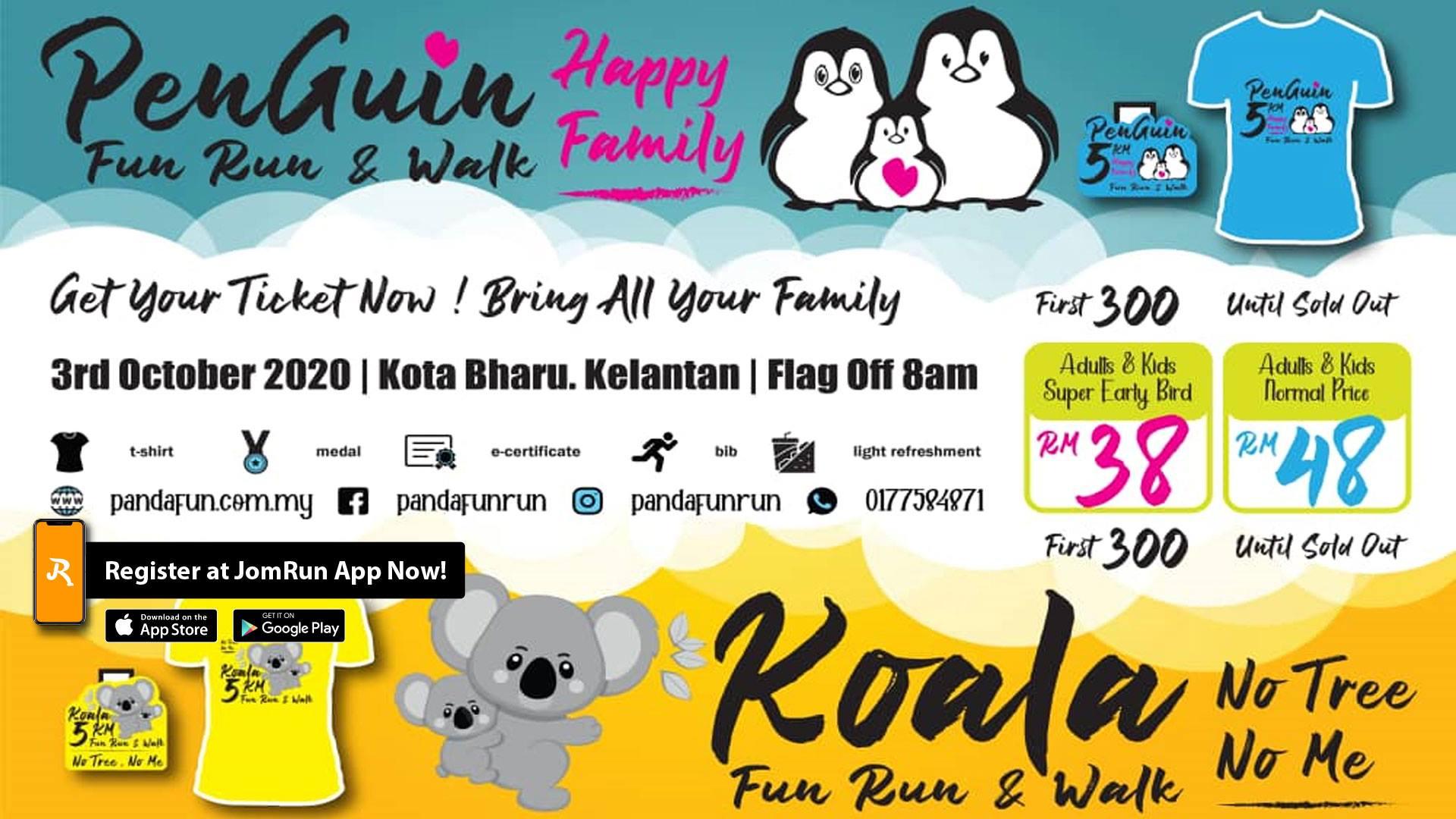 Kota Bharu PENGUIN vs KOALA Fun Run & Walk