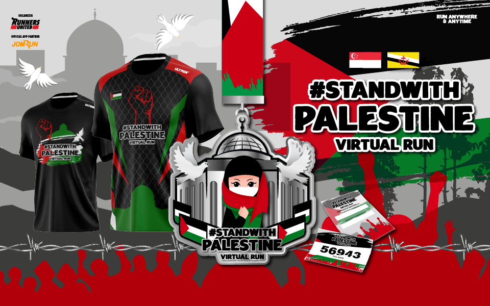Stand With Palestine Virtual Run - SG/BR