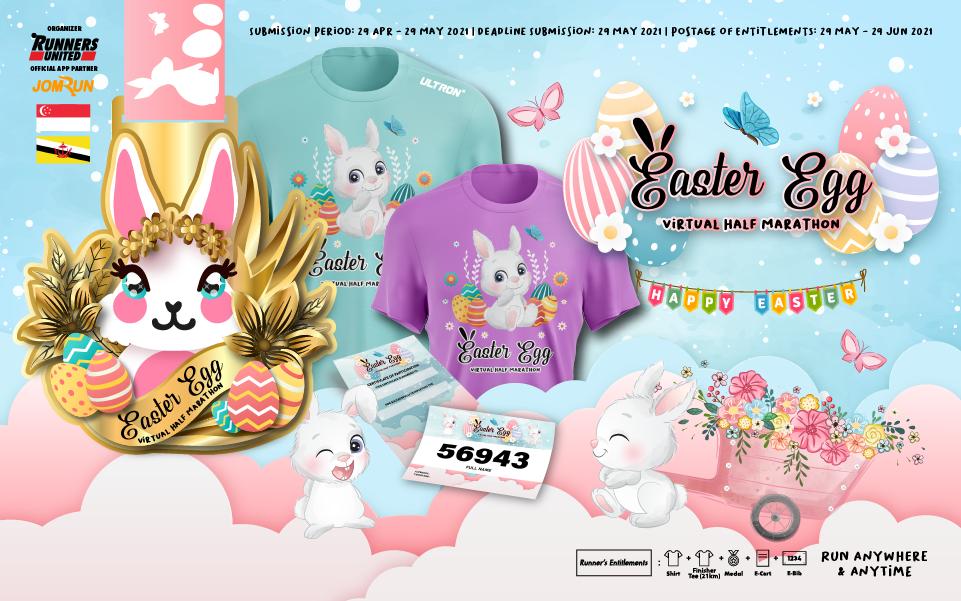 Easter Egg Virtual Half Marathon - SG/BR