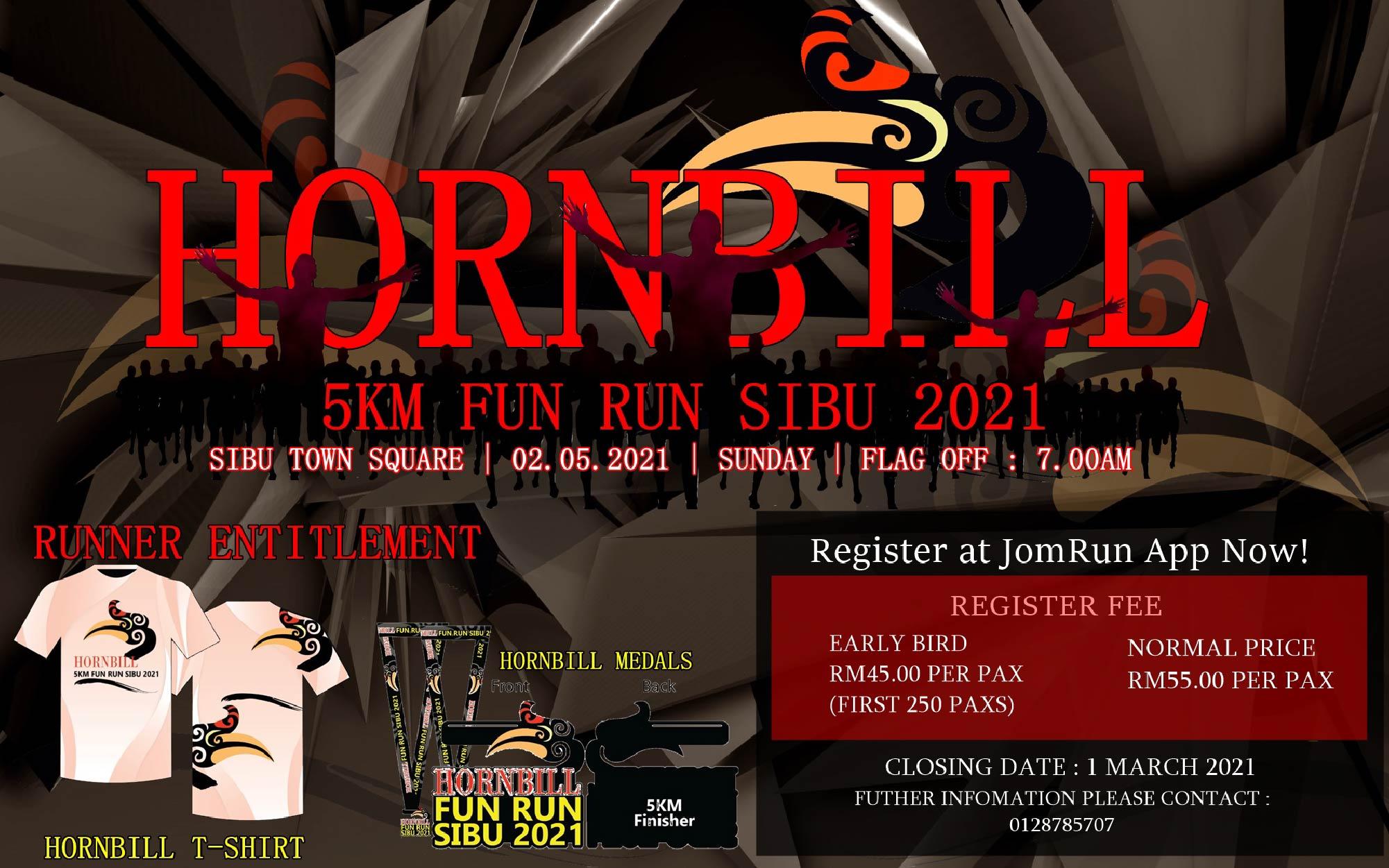 Hornbill 5km Fun Run Sibu 2021