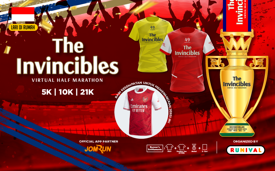 The Invincibles Virtual Half Marathon - Indonesia