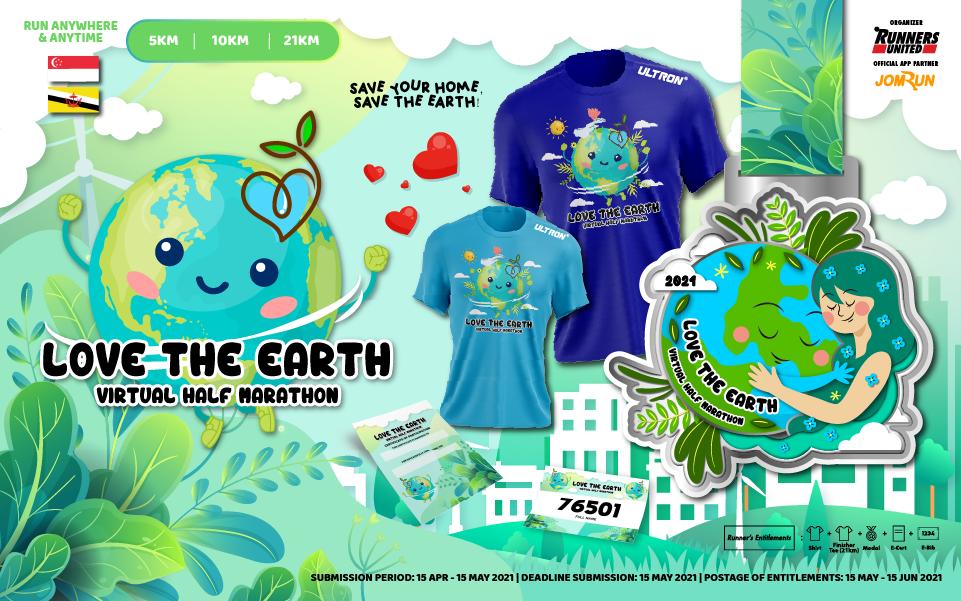 Love The Earth Virtual Half Marathon - SG/BR