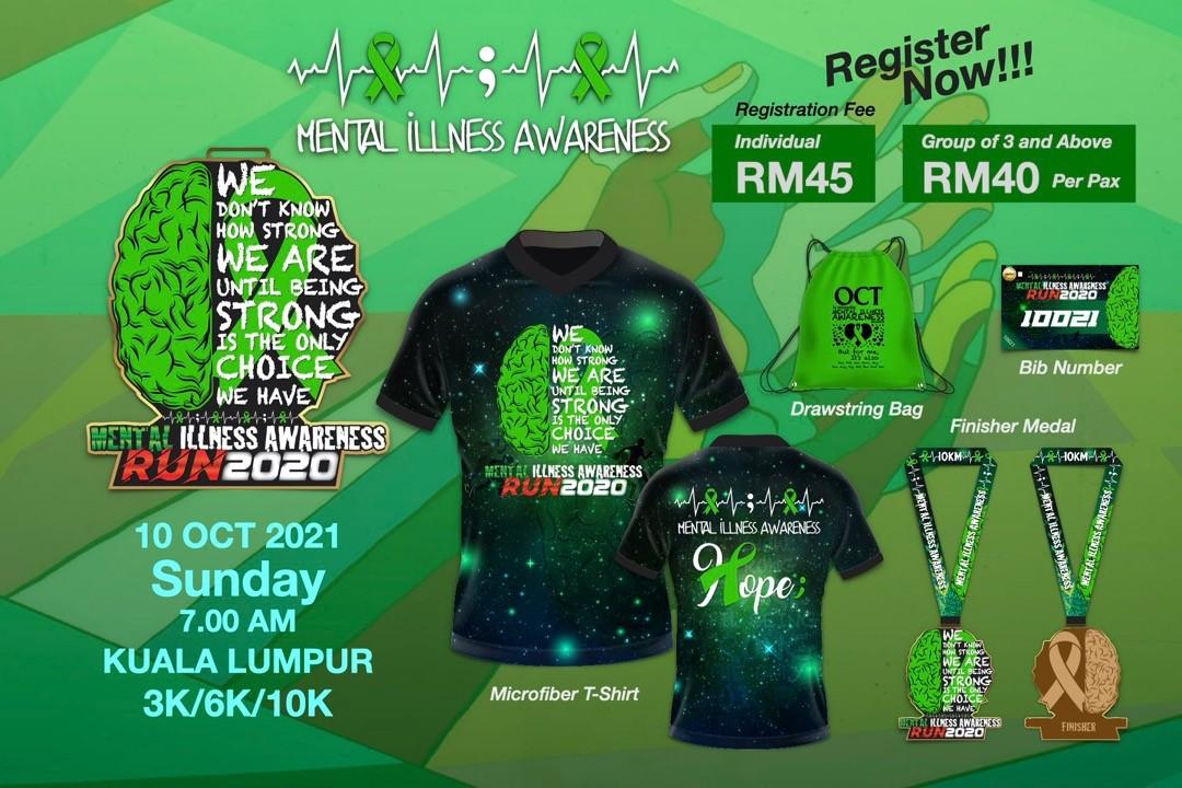Mental Illness Awareness Run 2020 - Kuala Lumpur