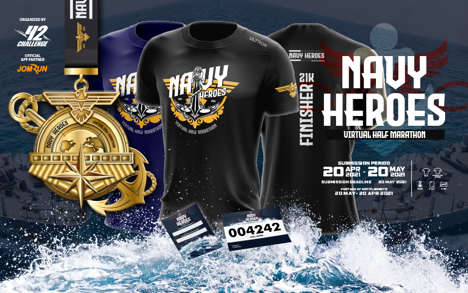 Navy Heroes Virtual Half Marathon