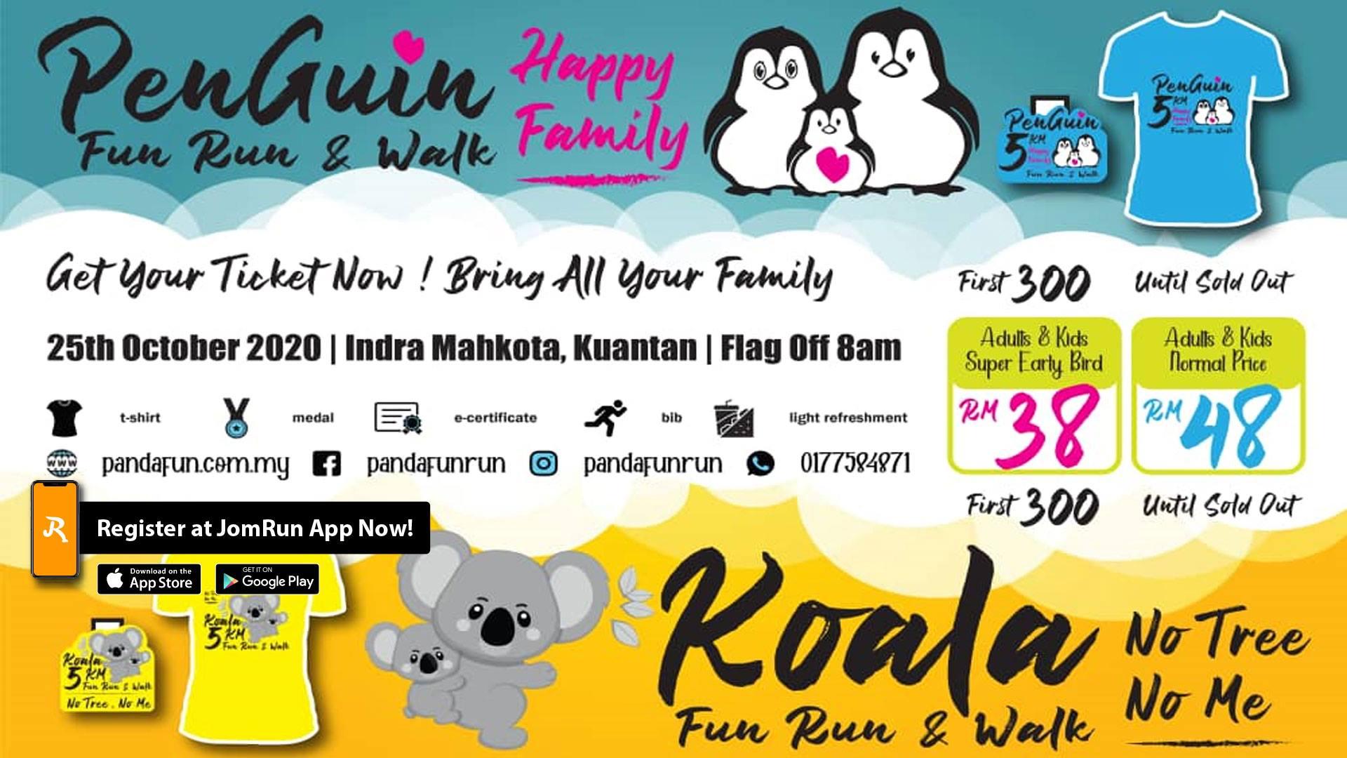 Kuantan PENGUIN vs KOALA Fun Run & Walk