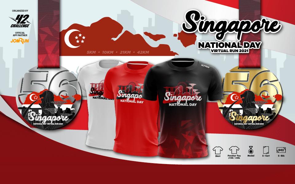 Singapore National Day Virtual Run 2021 - SG/BR